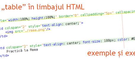 Practica la Reea - Exemple si exercitii in limbajul Html