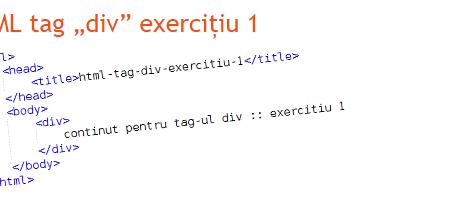 Practica la Reea - Tag div in limbajul HTML- exercitiu 1